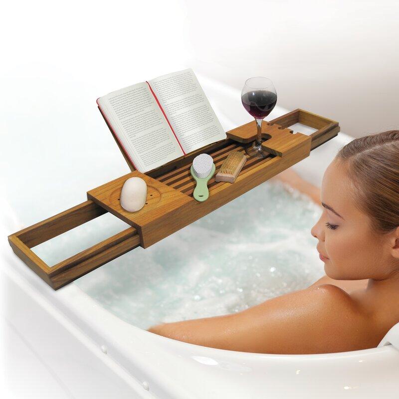 Ginsey Spa Sensation Teak Bath Caddy & Reviews   Wayfair