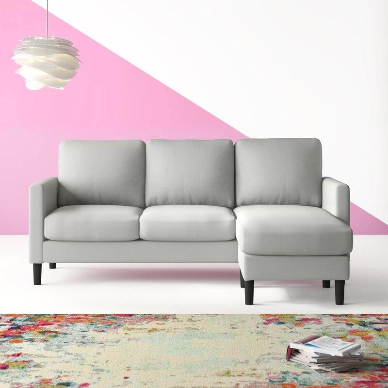 Ebern Designs Wedgeworth Reversible Sectional Sofa Grey