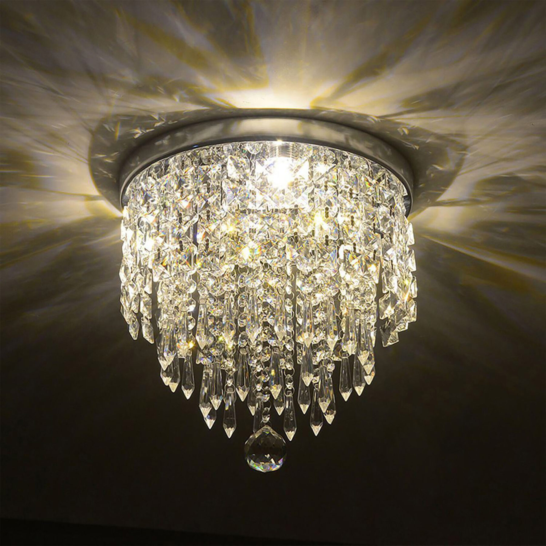 Glam Flush Mount Lighting On Sale Wayfair