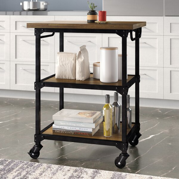 Wood And Metal Kitchen Cart | Wayfair