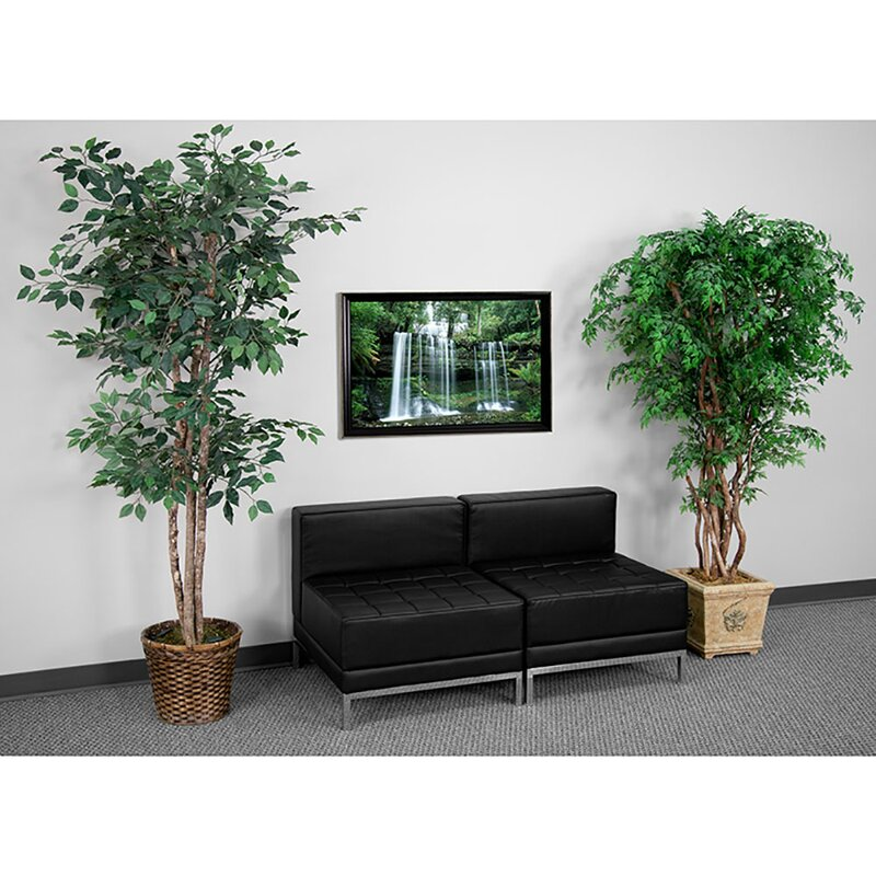 Flash Furniture 2 Piece Leather Configurable Reception Set Wayfair