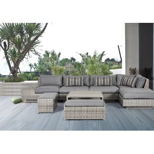 Bungalow Rose Samira 8 Piece Sectional Set with Cushions