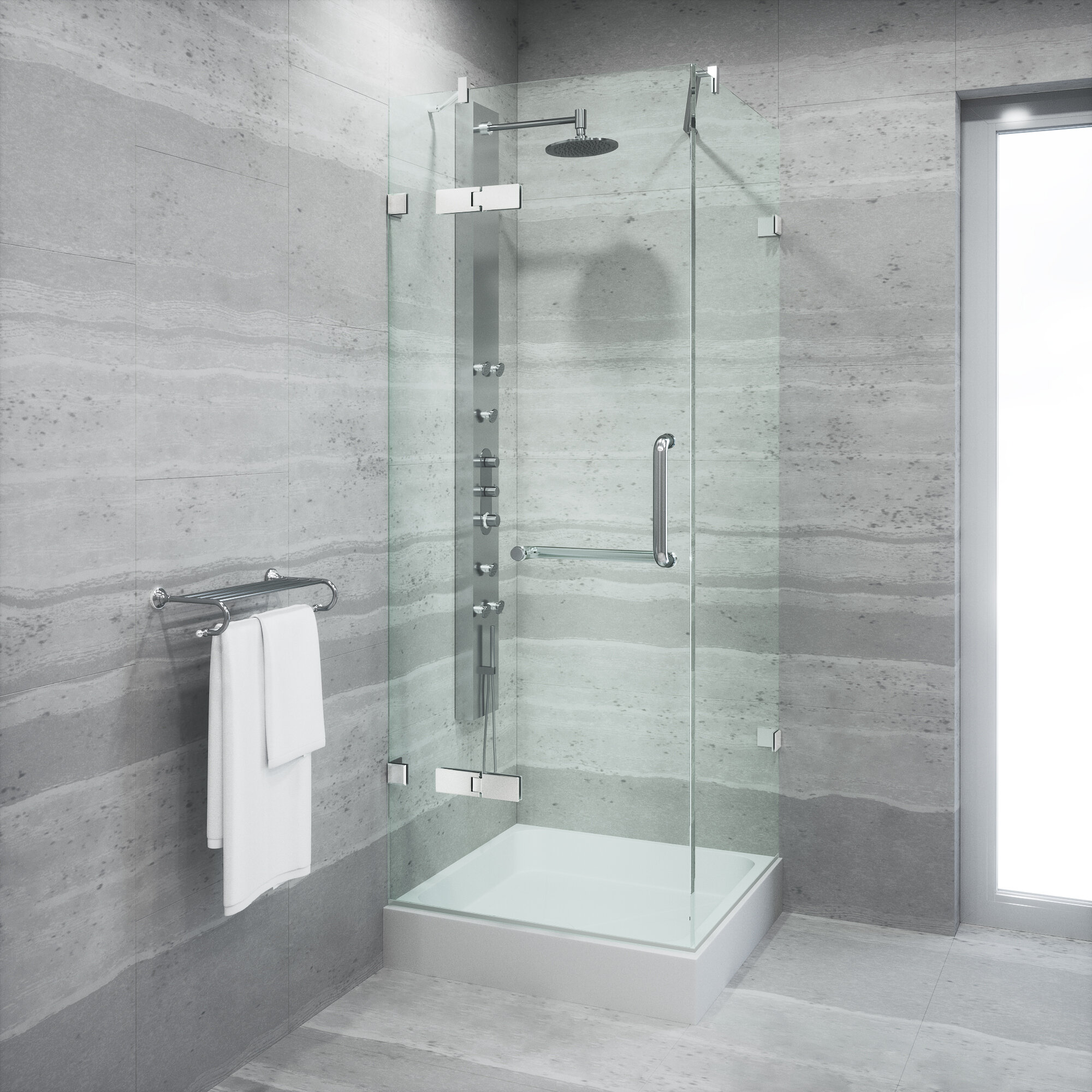 and neo youtube showerr angle glass photo inspirations of frameless full gemini vigo shower tips door doors framelessrs archaicawful size installation in x angler