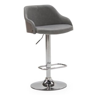 Ditmars Height Adjustable Swivel Bar Stool By Mercury Row