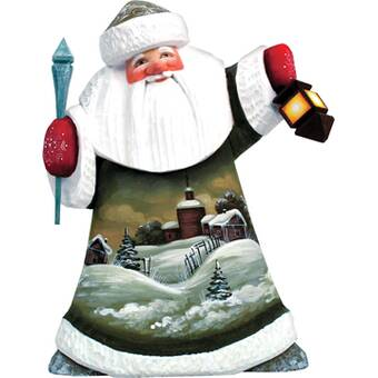 G Debrekht Masterpiece Signature Christmas Gift Giving Father Frost Santa Figurine Wayfair