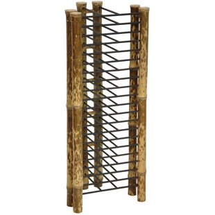 Oriental Furniture Japanese Bamboo Vertical Multimedia Tabletop Storage