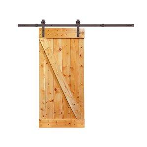 solid wood panelled pine interior barn door