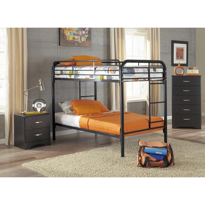 Harriet Bee Christopher Twin Over Twin Standard Bunk 3 Piece Bedroom Set Wayfair