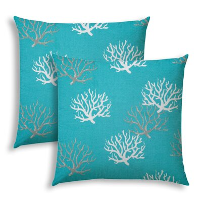 Highland Dunesfloating Coral Outdoor Rectangular Pillow Cover Insert Highland Dunes Color Aqua Dailymail