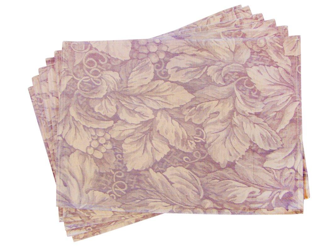 Lined Jacquard Floral Placemat
