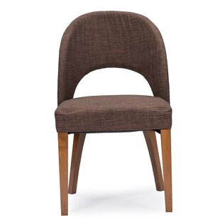 Eli Genuine Leather Upholstered Dining Chair (Set of 2) George Oliver