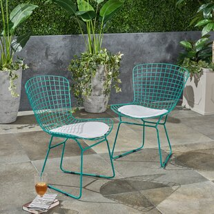 Hively Patio Dining Chair with Cushion (Set of 2)
