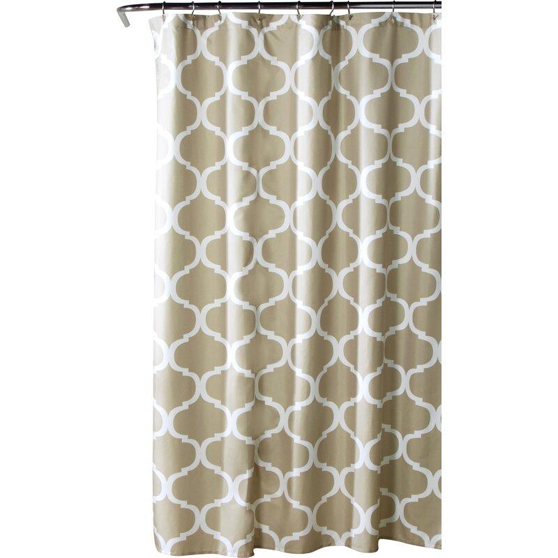Alcott Hill  Dauberville Single Shower Curtain Color: Taupe