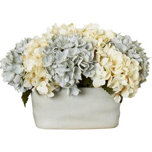 Hydrangea Centerpiece in Planter