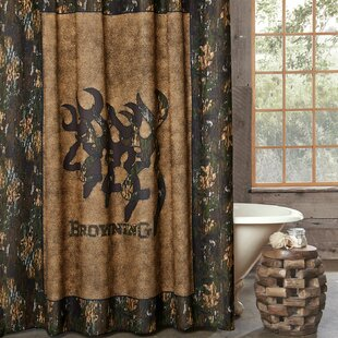 Affordable Price 3D Buckmark Cotton Shower Curtain ByBrowning