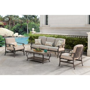 Sousa Bar 4 Piece Deep Seating Group with Cushions