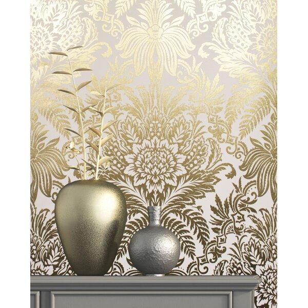 Photo Montesano Damask 33' L x 20.5 W Wallpaper Roll byHouse of Hampton®