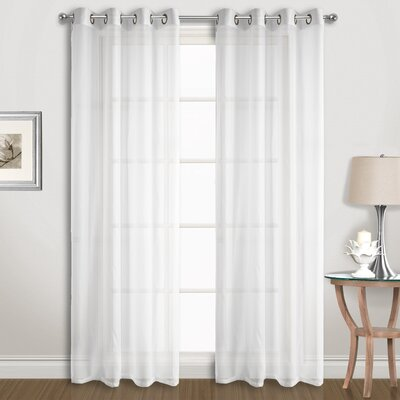 Special Solid Sheer Grommet Curtain Panels United Curtain Co. Curtain Color: White