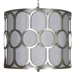 Worlds Away Art Deco Style 3-Light Pendant