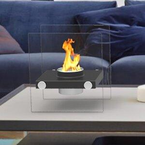 Luminox Ventless Portable Bio Ethanol Tabletop Fireplace