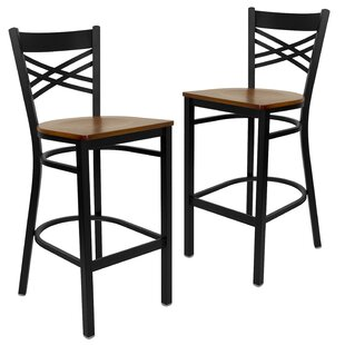 Chafin 29 Swivel Bar Stool (Set of 2) Winston Porter