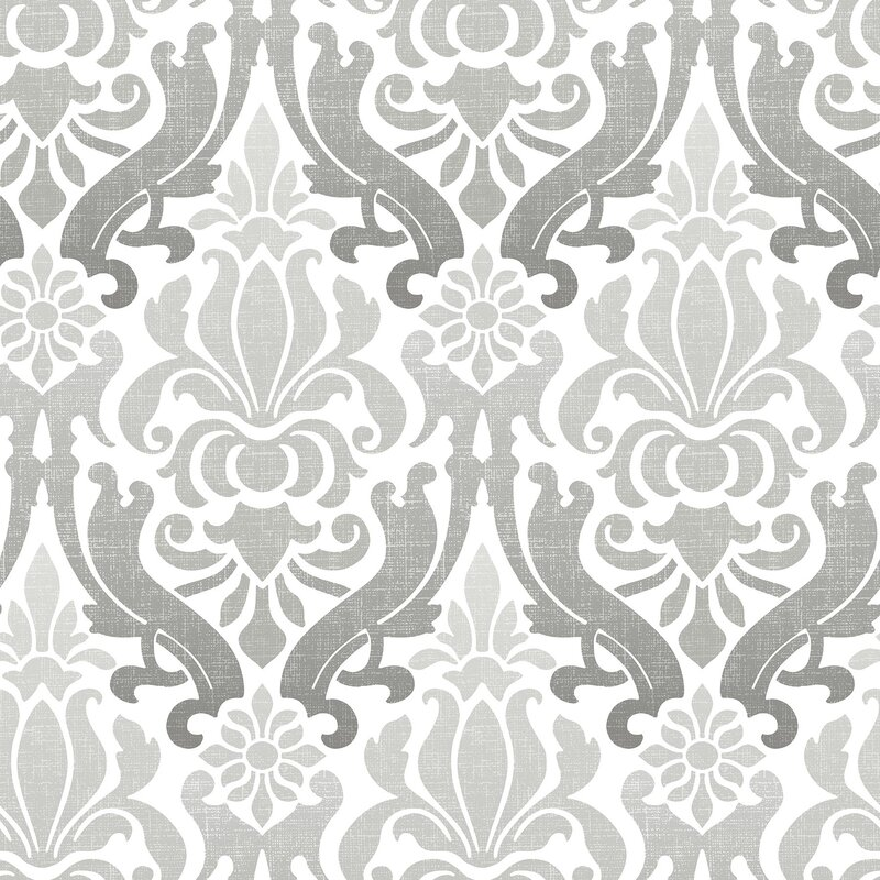 Astoria Grand Woolbright Nouveau 18 X 20 5 Damask Peel And Stick Wallpaper Roll Reviews Wayfair
