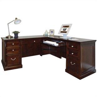 Martin Home Furnishings Fulton L-Shape Executive Desk