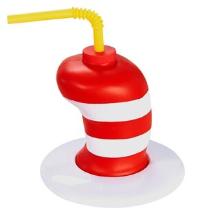d5bc6311 Dr. Seuss Hat Molded Plastic Disposable Favor Cup