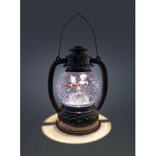 Cool White Water With Snowman Trio Lit Lantern By The Seasonal Aisle