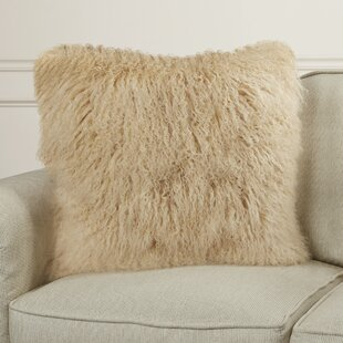 Burel Sheepskin Throw Pillow
