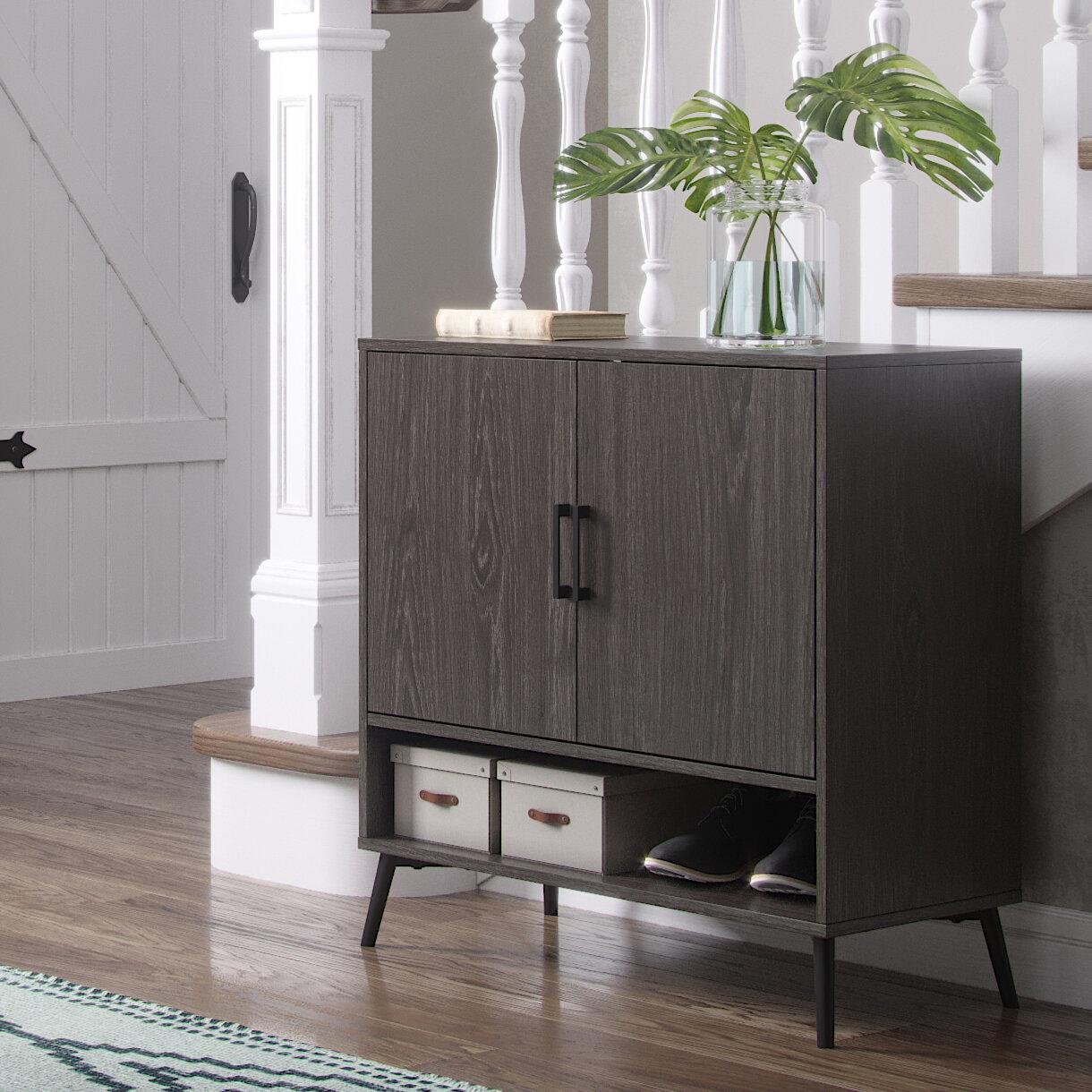 Ebern Designs Wysocki 12 Pair Shoe Storage Cabinet Reviews Wayfair Co Uk