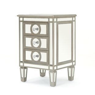 Tantallon Mirrored 3 Drawer Cabinet by House of Hampton
