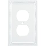 Classic Beaded 1-Gang Duplex Outlet Wall Plate