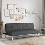"""Twin 66.1"""" Wide Tufted Back Convertible Sofa"""
