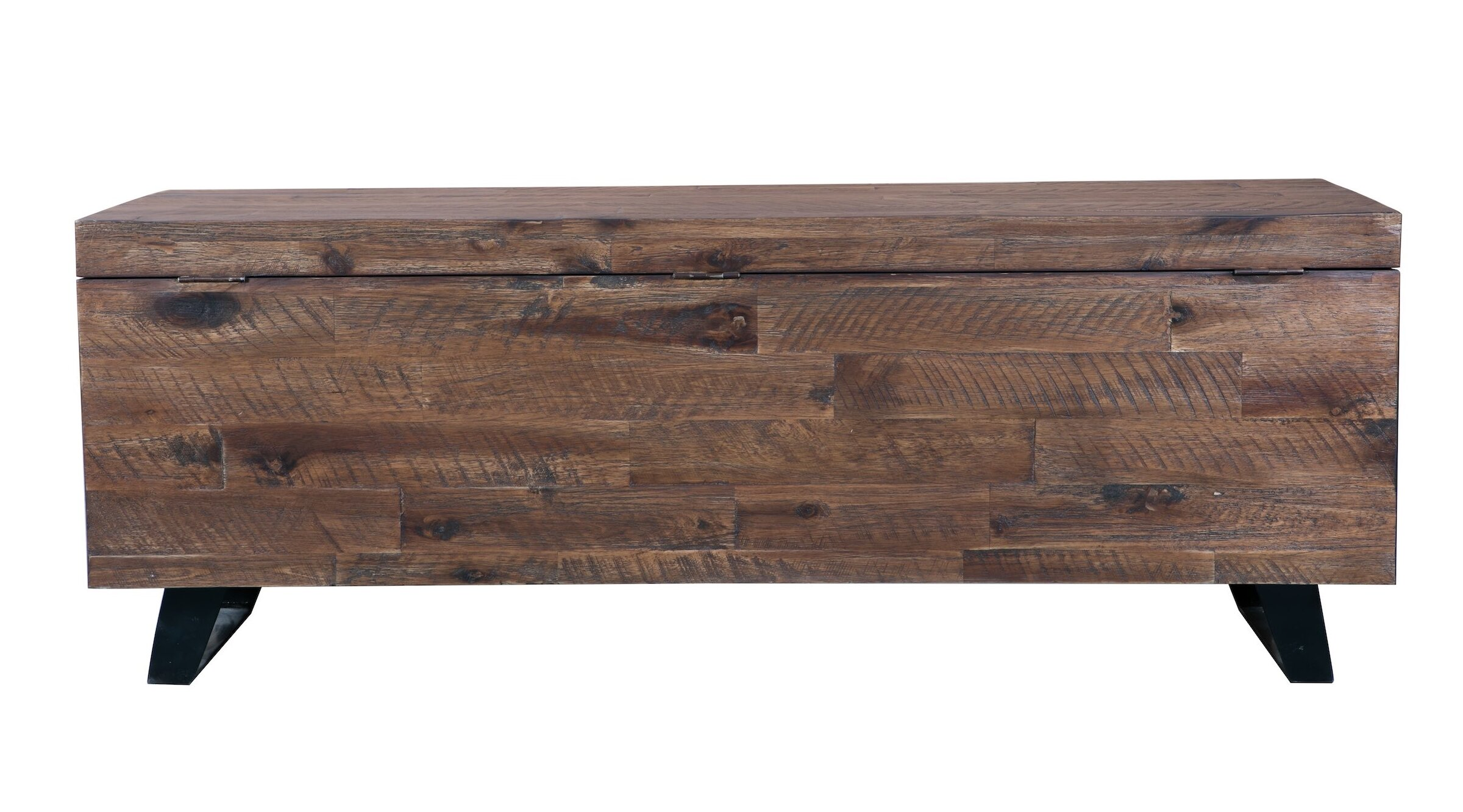 Wondrous Foundry Select Southbridge Acacia Wood Storage Bench Dailytribune Chair Design For Home Dailytribuneorg