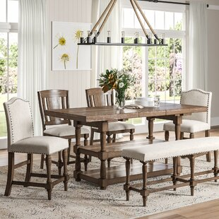 Fortunat 6 Piece Extendable Dining Set Laurel Foundry Modern Farmhouse