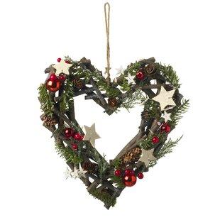 Heart 30cm Christmas Wreath Image