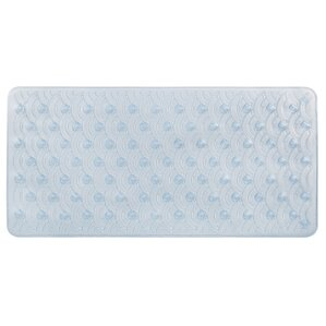 Vinyl Non Slip Scallop Design Shower Mat With Ultra Secure Suction Cups