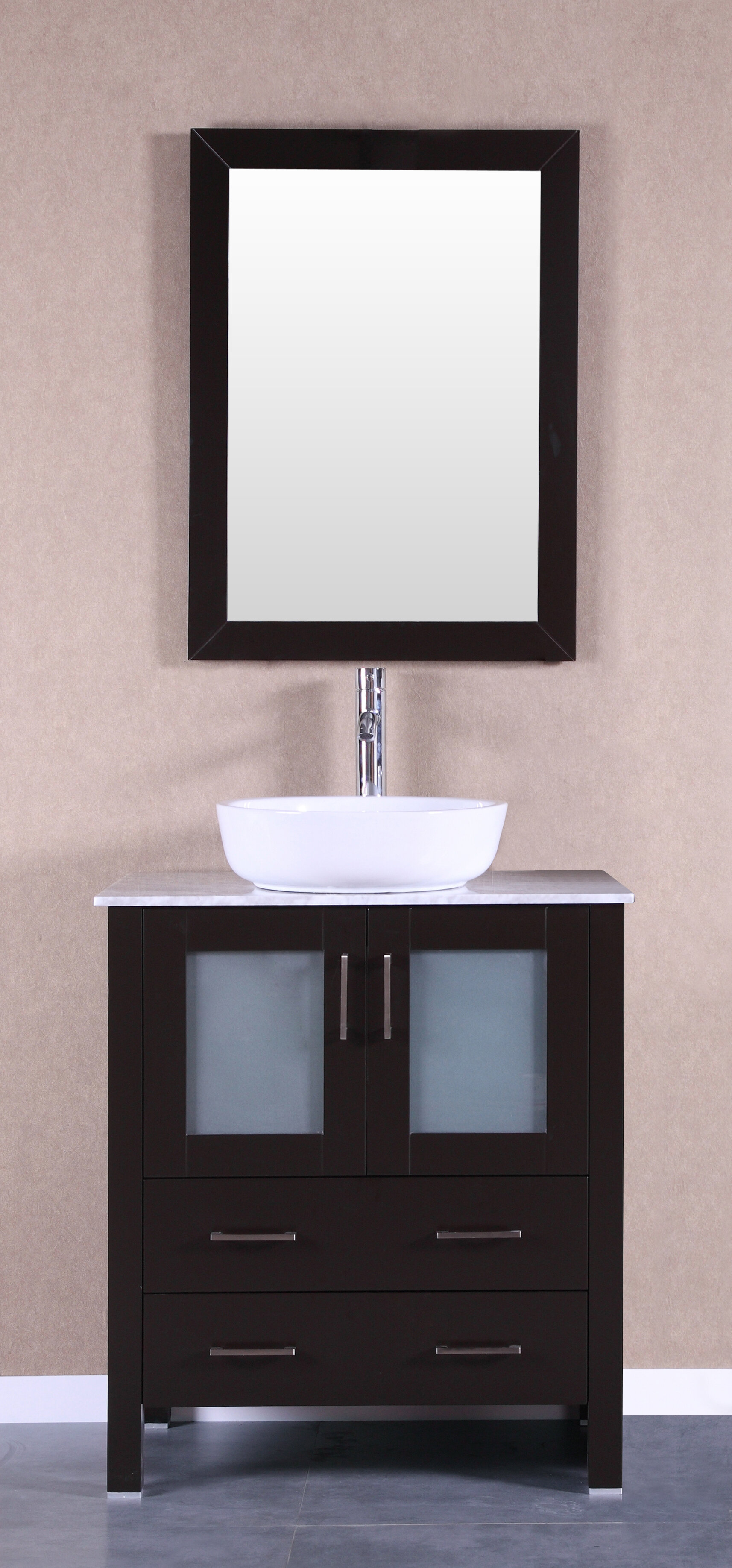 Lovette 30 Single Bathroom Vanity Set With Mirror