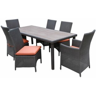 AE Outdoor Denali 7 Piece Dining Set with..