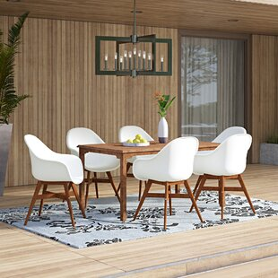 Alshain 7 Piece Teak Dining Set by Mercury Row