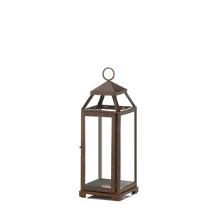 Gracie Oaks Glass/Metal Lantern