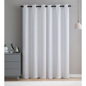 virgo solid blackout grommet single curtain panel set of 2