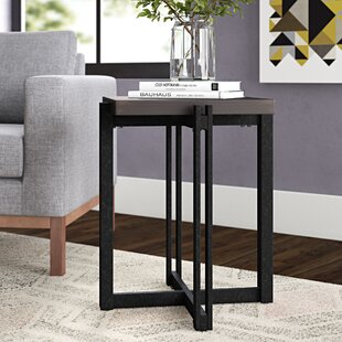 Check Prices Baran Distressed End Table by Ivy Bronx