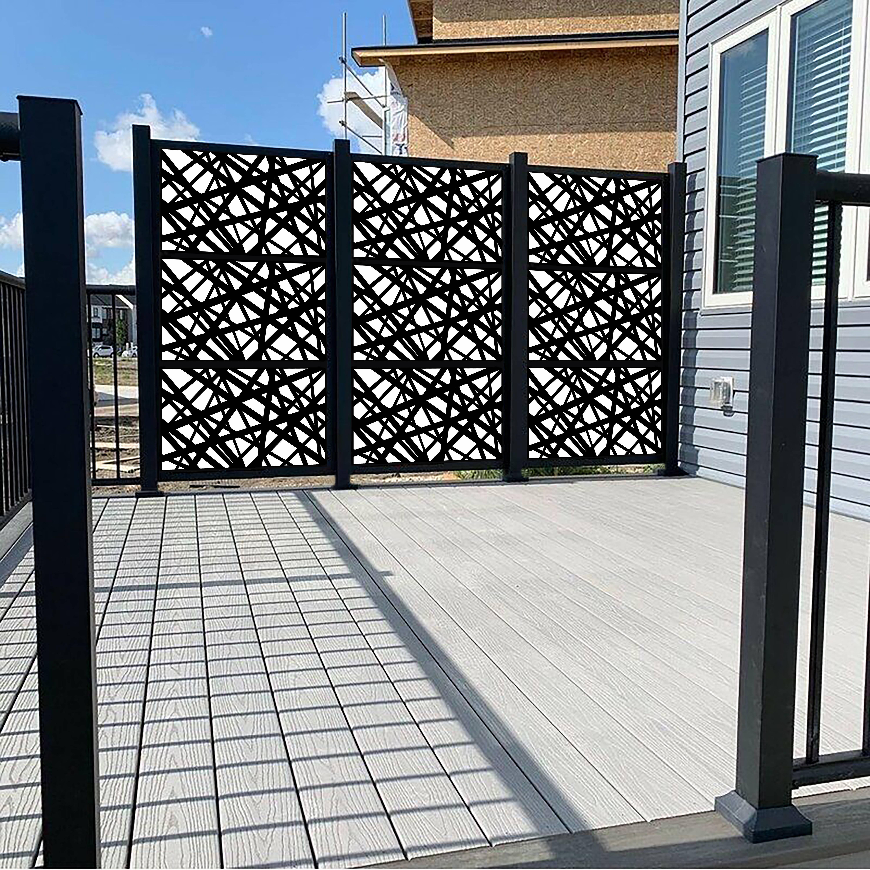 Porpora 6 Ft H X 4 Ft W Metal Fence Panel Wayfair
