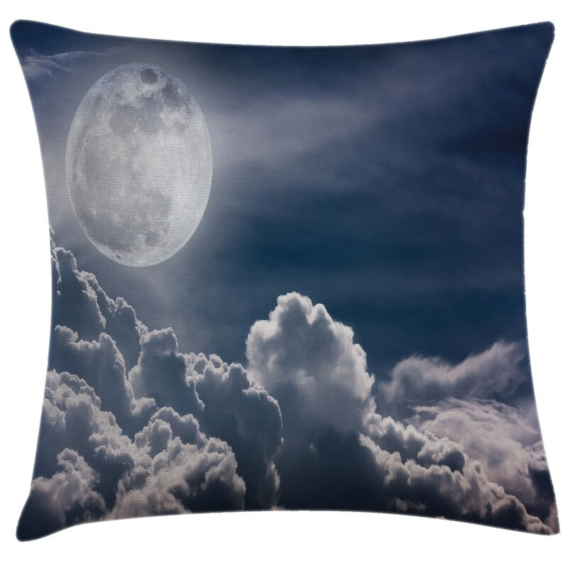 East Urban Home Celestial Big Moon And Fluffy Clouds Indoor Outdoor 36 Throw Pillow Covercelestial Big Moon And Fluffy Clouds Majestic Dramatic Idyllic Wayfair