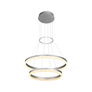 Marcelo 2-Light LED Geometric Chandelier by Wade Logan