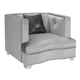 Koeller Armchair and Ottoman by Everly Quinn