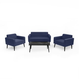 Stein Outdoor 4 Piece Sofa Seating Group with Cushions