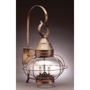 Order Onion 2-Light Outdoor Wall Lantern By Northeast Lantern